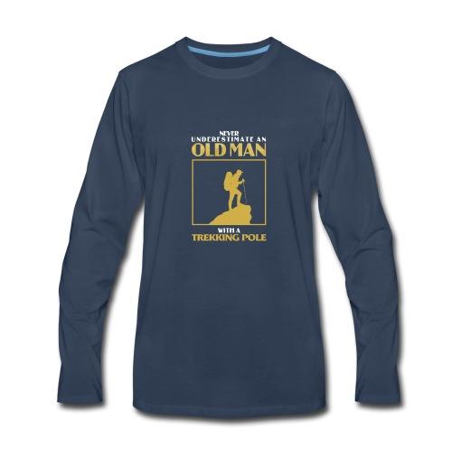 Old Man Trekking - Men's Premium Long Sleeve T-Shirt