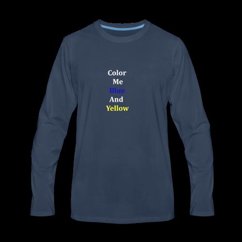 yellowandblue - Men's Premium Long Sleeve T-Shirt