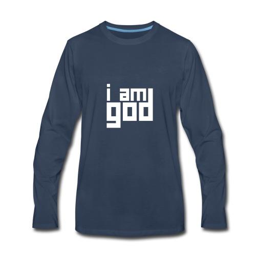 I am god - Men's Premium Long Sleeve T-Shirt
