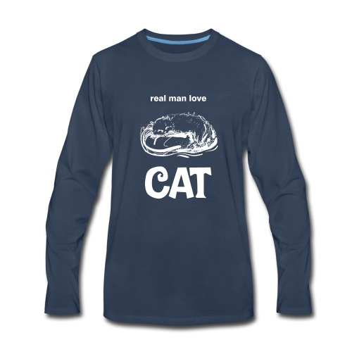 Real Man Love Cat - Men's Premium Long Sleeve T-Shirt
