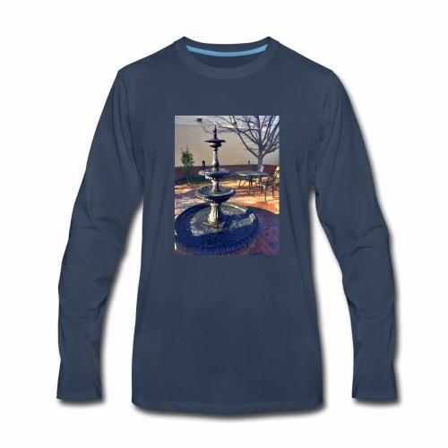 Fairytale Fountain Painting - Men's Premium Long Sleeve T-Shirt