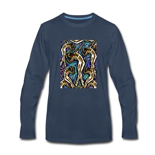 Woman In The Machine Frieze Color 2 - Men's Premium Long Sleeve T-Shirt