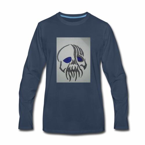 Blue Eyed Skull - Men's Premium Long Sleeve T-Shirt