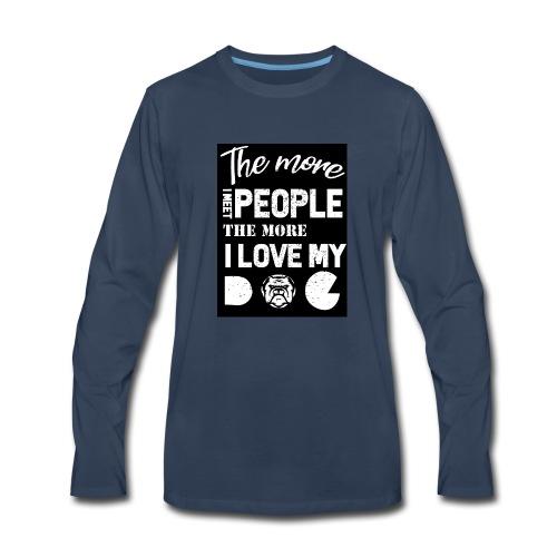 Dog owner T shirt - Men's Premium Long Sleeve T-Shirt
