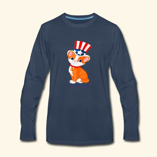 cat of usa - Men's Premium Long Sleeve T-Shirt
