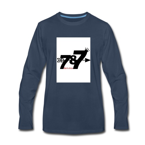 787 illustration - Men's Premium Long Sleeve T-Shirt