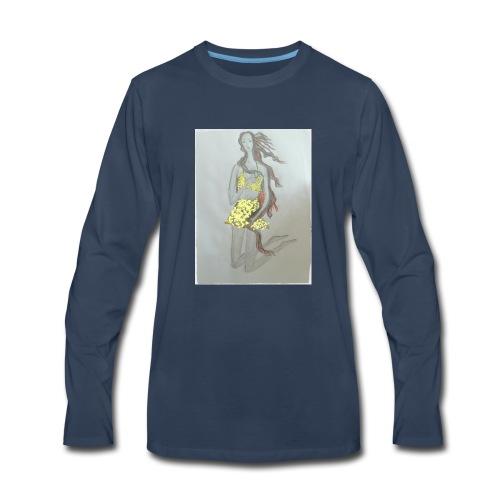 Venus fashion illustration style - Men's Premium Long Sleeve T-Shirt