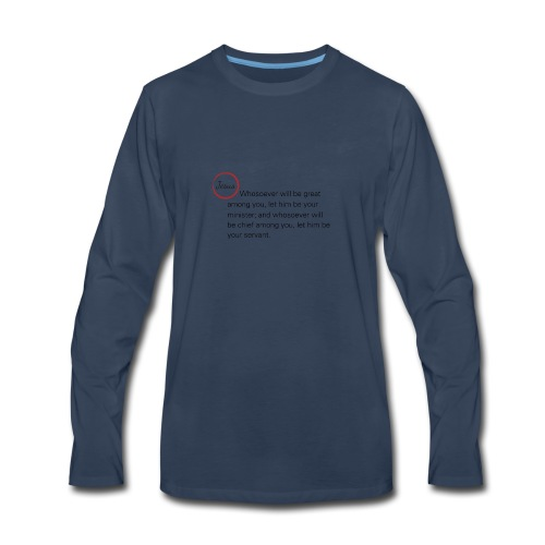 Matthew 20:26-27 - Men's Premium Long Sleeve T-Shirt