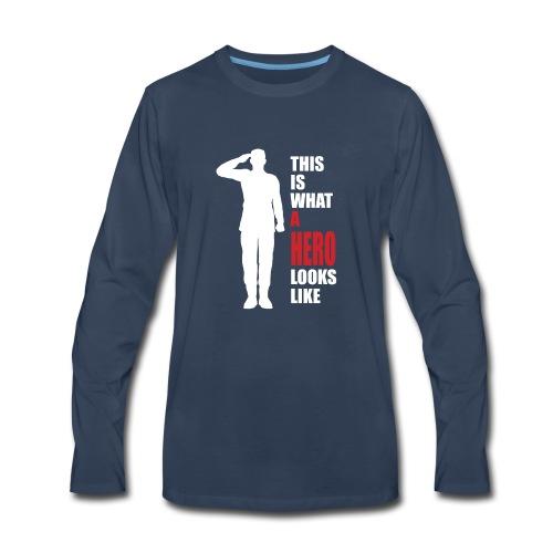 A HERO - Men's Premium Long Sleeve T-Shirt