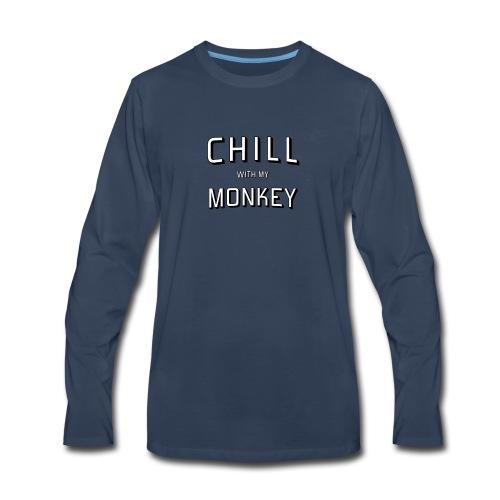 Monkey and Chill - Men's Premium Long Sleeve T-Shirt