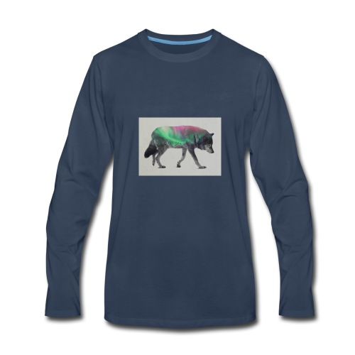 Double Exposure Of Animals - Men's Premium Long Sleeve T-Shirt