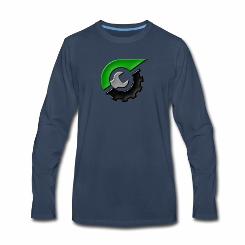 JeepSolid Logo - Men's Premium Long Sleeve T-Shirt