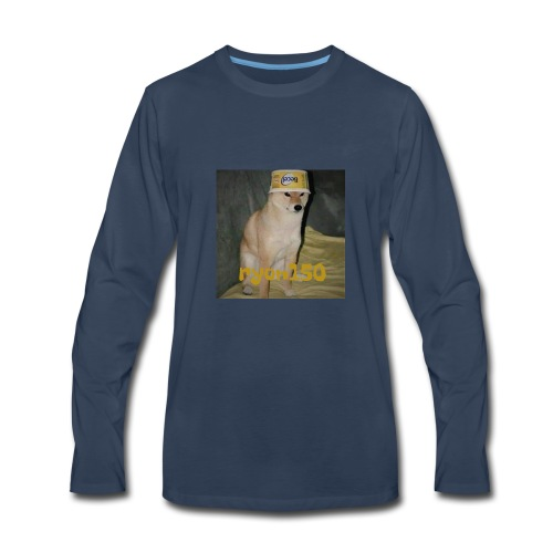 Butter Dog Logo - Men's Premium Long Sleeve T-Shirt