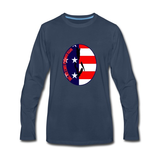 With America Since Day One - Men's Premium Long Sleeve T-Shirt