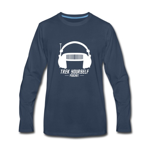 Trek Yourself Podcast Logo - Men's Premium Long Sleeve T-Shirt