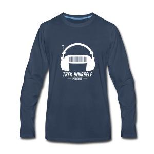 Trek Yourself Podcast Logo - Men's Premium Long Sleeve T-Shirt