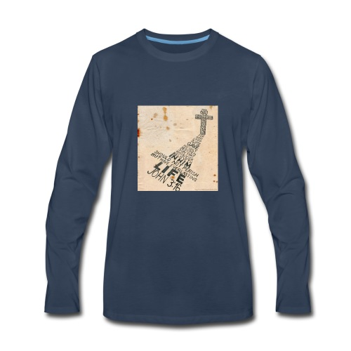 john3:16 - Men's Premium Long Sleeve T-Shirt
