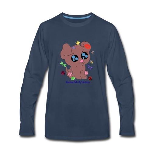 Rose Brown puppy shirt - Men's Premium Long Sleeve T-Shirt