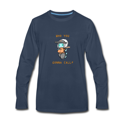 Pizza Deliver Ghost Mom - Men's Premium Long Sleeve T-Shirt