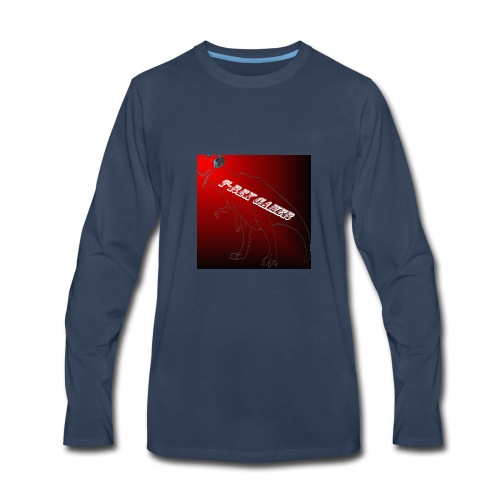 T-REX GAMER LOGO - Men's Premium Long Sleeve T-Shirt