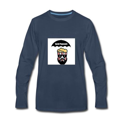 Acid Popcorn Logo Official - Men's Premium Long Sleeve T-Shirt