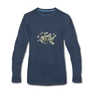 Money flying - Men's Premium Long Sleeve T-Shirt