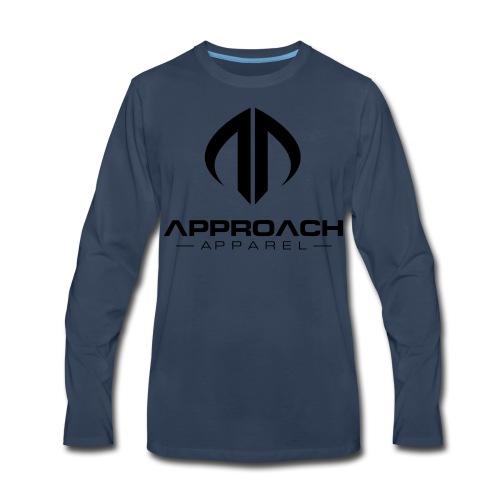 Approach Apparel Athletic Hoodie Shirt- Black Logo - Men's Premium Long Sleeve T-Shirt