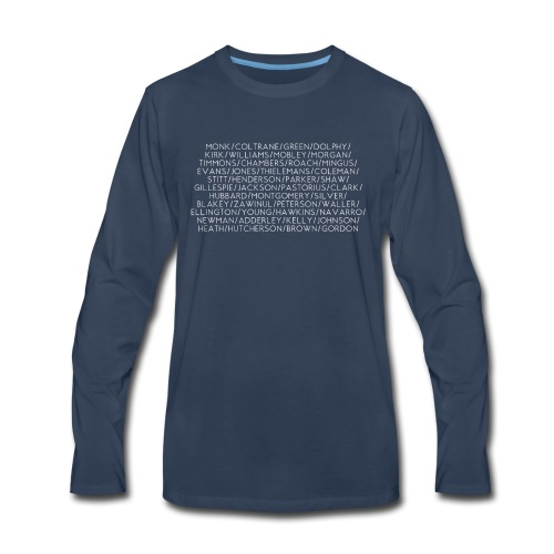 Jazz Greats 1 TShirt (White Lettering) - Men's Premium Long Sleeve T-Shirt
