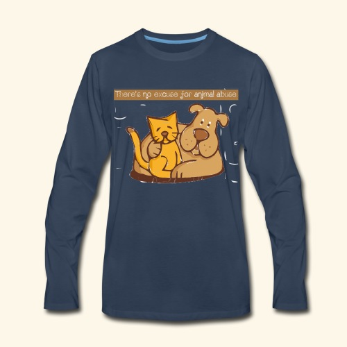 No excuse for animal abuse - Men's Premium Long Sleeve T-Shirt