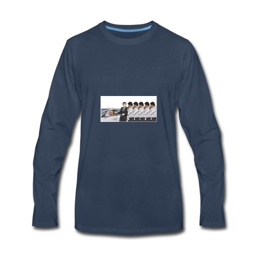 A new take on car sales man meme - Men's Premium Long Sleeve T-Shirt