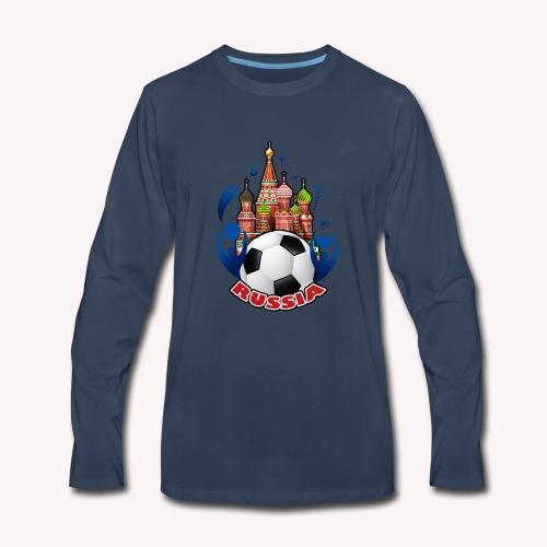 001 Russian buildings and ball - Men's Premium Long Sleeve T-Shirt