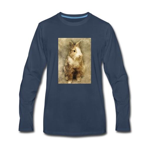 Rabbit portrait 1 - Men's Premium Long Sleeve T-Shirt