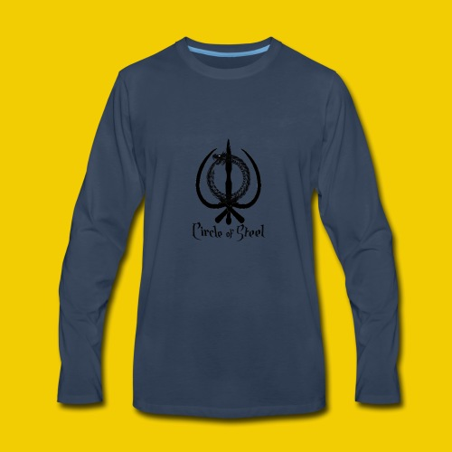 circle_of_steel_logo21 - Men's Premium Long Sleeve T-Shirt