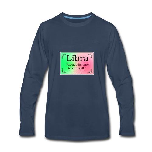 Libra Logo - Men's Premium Long Sleeve T-Shirt