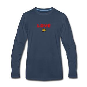 LOVE PIZZA - Men's Premium Long Sleeve T-Shirt