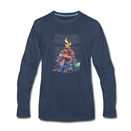 Answer to the Question Dragons - Men's Premium Long Sleeve T-Shirt