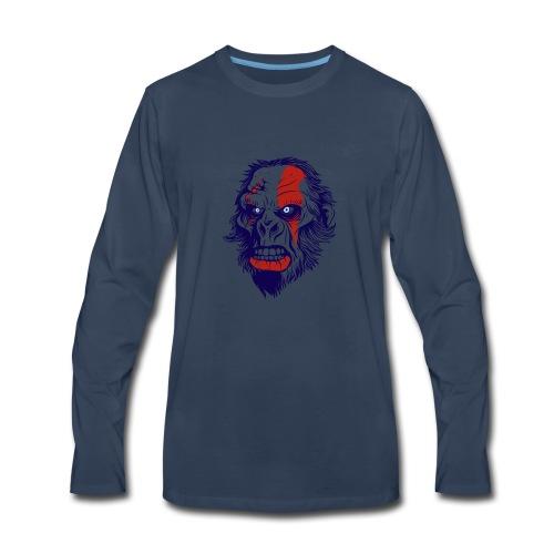 t shirt design 26 gorilla kratos by marekpl d - Men's Premium Long Sleeve T-Shirt