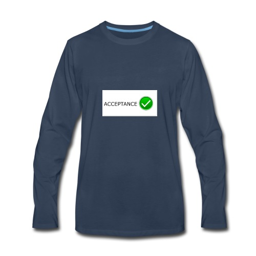 accpetnace_logo - Men's Premium Long Sleeve T-Shirt