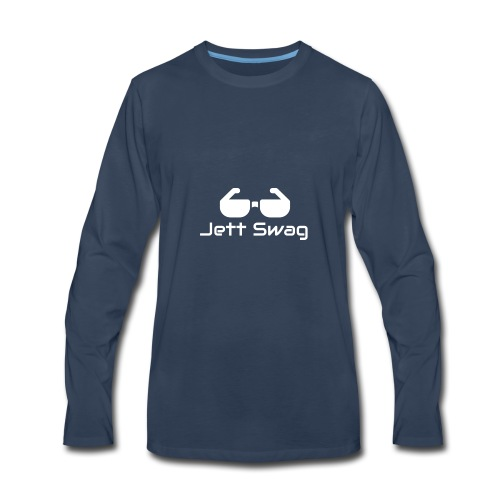 Jett Swag Sun Glasses White - Men's Premium Long Sleeve T-Shirt