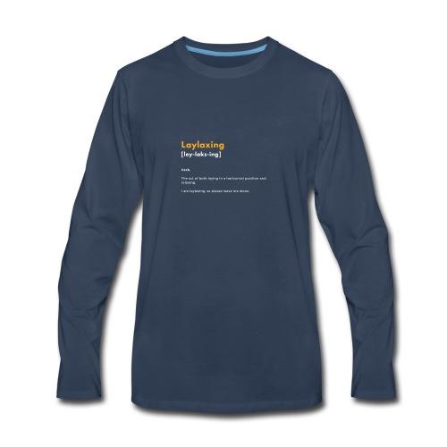 laylaxing gold - Men's Premium Long Sleeve T-Shirt