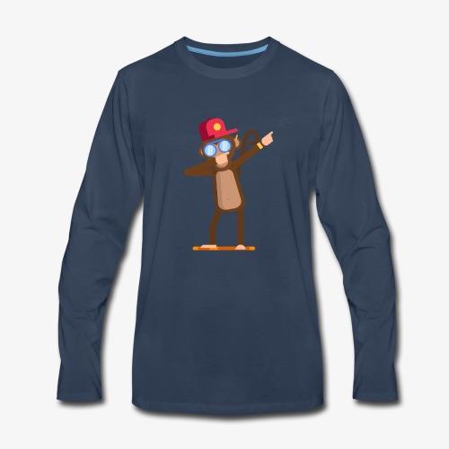 Animal doing dabbing movement - monkey - Men's Premium Long Sleeve T-Shirt