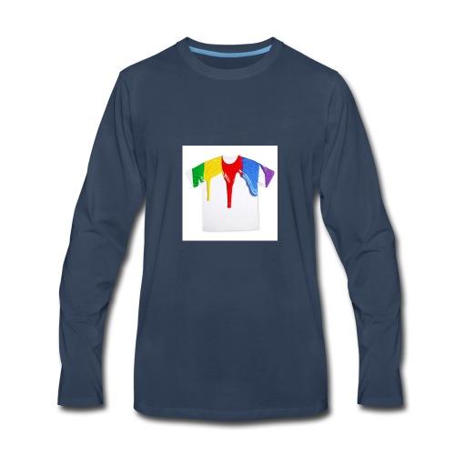 tshirt printing for kids paint design 100683 - Men's Premium Long Sleeve T-Shirt