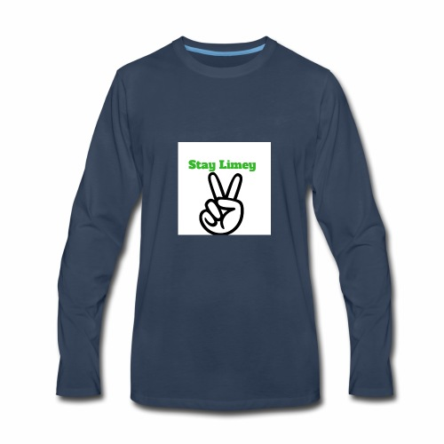 Peace Brand White - Men's Premium Long Sleeve T-Shirt