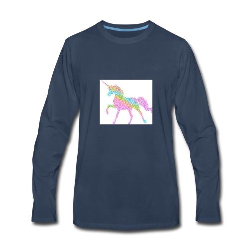 Cool Merch here by me it's unicorns - Men's Premium Long Sleeve T-Shirt