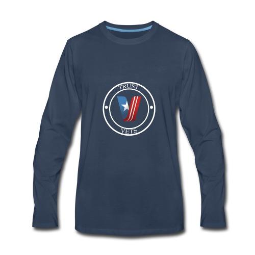 Trust Vets medallion - Men's Premium Long Sleeve T-Shirt