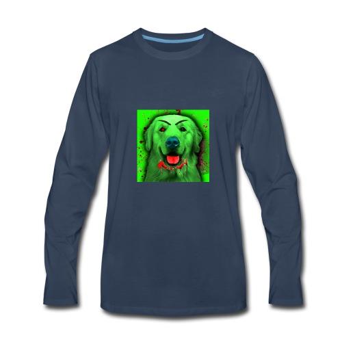 Zombie Dog Hoodie - Men's Premium Long Sleeve T-Shirt