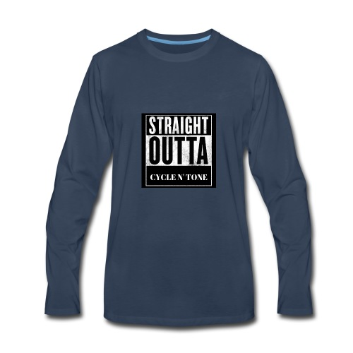STRAIGHT OUTTA CYCLE N TONE - Men's Premium Long Sleeve T-Shirt