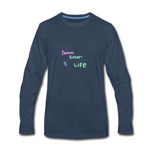 banana kitten 4 life - Men's Premium Long Sleeve T-Shirt
