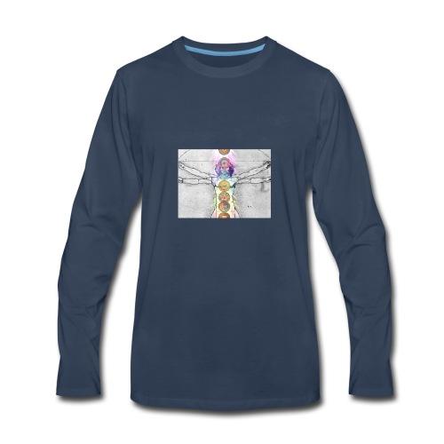 7 Chakras Yoga Meditation Apparel - Men's Premium Long Sleeve T-Shirt