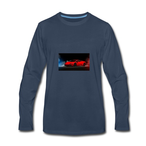 Red Lamborghini - Men's Premium Long Sleeve T-Shirt